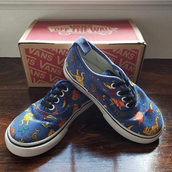 277ad4c41f Vans Kids Dinosaur Slip On Shoes. M 5c3bbc1fbb761520ccfe1b69
